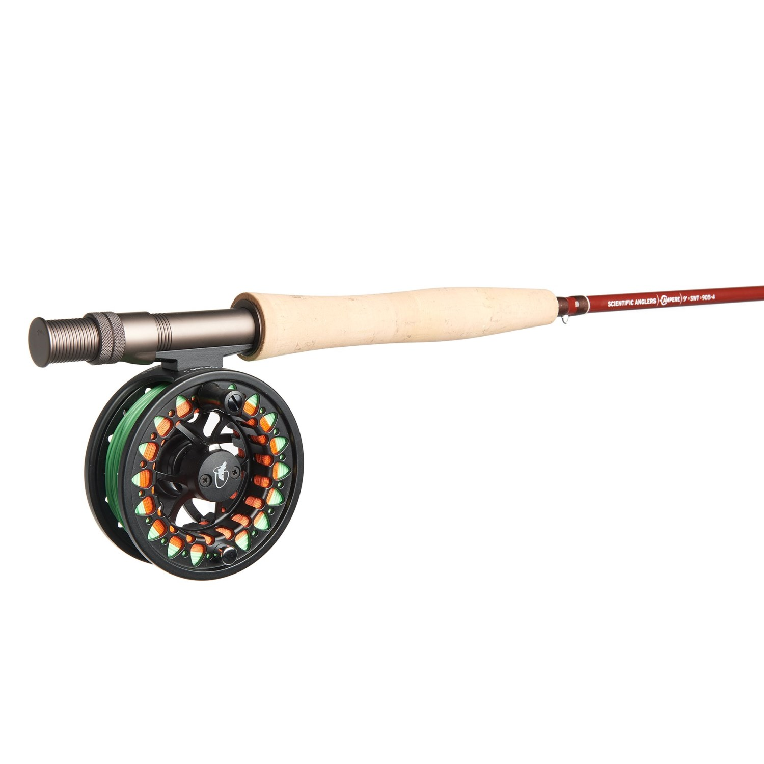 Scientific anglers ampere fly rod and reel outfit with for Trout fishing rod and reel