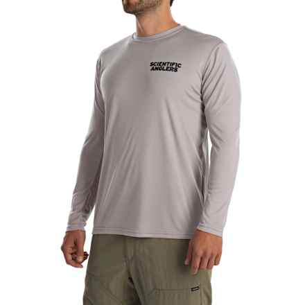 Scientific Anglers Casting T-Shirt - Long Sleeve (For Men) in Athletic Grey Smallmouth Bass - Closeouts