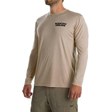 Scientific Anglers Casting T-Shirt - Long Sleeve (For Men) in Tan Brook Trout