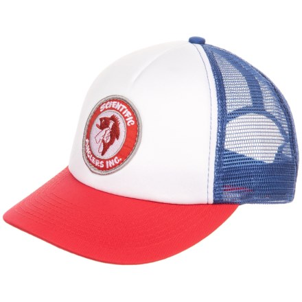 5bbcca04e8bca Scientific Anglers Foam Trucker Hat (For Men) in White Red Blue -
