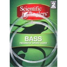 Scientific Anglers Premium Freshwater Bass Leaders - Loop, 2-Pack, 9' in Clear - Closeouts