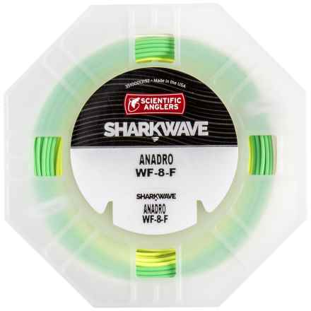 Scientific Anglers Sharkwave Anadro Fly Line - Floating, Weight Forward in Yellow/Sage/Ivory - Closeouts