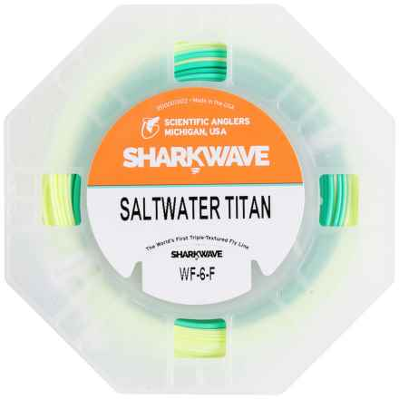 Scientific Anglers Sharkwave Saltwater Titan Fly Line- Weight Forward, Floating in Light Yellow/Mist Green/Sky Blue - Closeouts