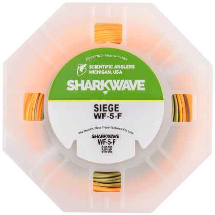 Scientific Anglers Sharkwave Siege Fly Line - Floating, Weight Forward in Sunrise Orange/Heron/Light Willow Tip - Closeouts