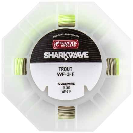 Scientific Anglers Sharkwave Ultimate Trout Fly Line - Floating, Weight Forward in Bright Mist Green/Willow/Dark Millow Tip - Closeouts