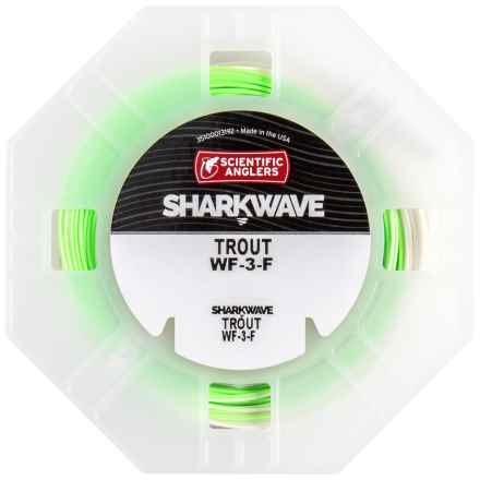 Scientific Anglers Sharkwave Ultimate Trout Fly Line - Floating, Weight Forward in Stealth Ivory/Green Mist/Willow Tip - Closeouts