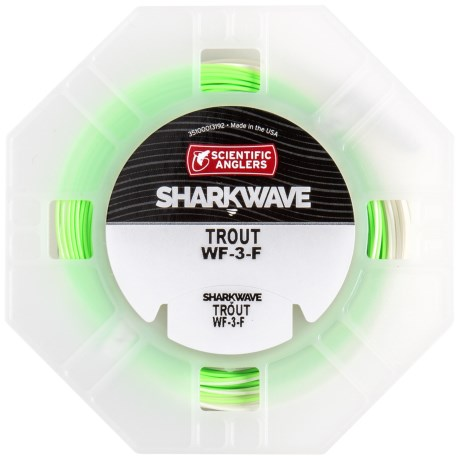 Scientific Anglers Sharkwave Ultimate Trout Fly Line - Floating, Weight Forward in Stealth Ivory/Green Mist/Willow Tip
