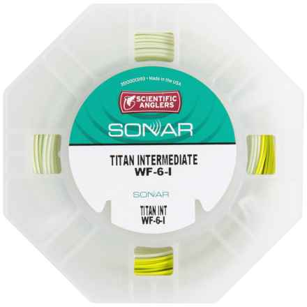 Scientific Anglers Sonar Titan Intermediate Fly Line - Sinking, Weight Forward, Mastery Texture in Lily Pad/Turtlegrass - Closeouts