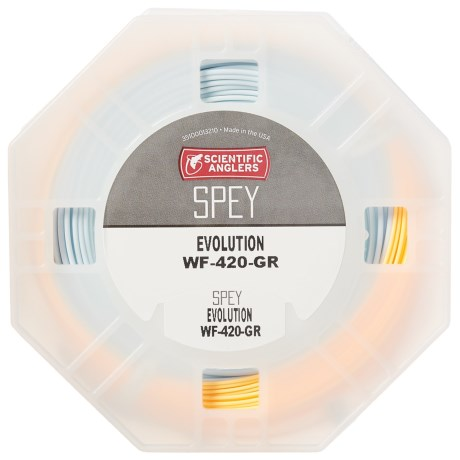 Scientific Anglers Spey Evolution Fly Line - Weight Forward, 130' in Sunset/Light Blue