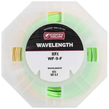 Scientific Anglers Wavelength MPX Fly Line - Floating, Weight Forward in Amber/Green - Closeouts