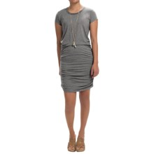 Scoop Neck Dress - Short Sleeve (For Women) in Grey - Closeouts