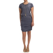 Scoop Neck Dress - Short Sleeve (For Women) in Purple - Closeouts