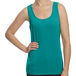 Scoop Neck Shell - Sleeveless (For Women) in Teal