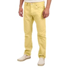 Scotch & Soda Straight Leg Denim Jeans - Slim Cut (For Men) in Golden Yellow - Closeouts