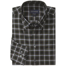 Scott Barber Andrew 4x4 Check Sport Shirt - Twill, Long Sleeve (For Men) in Black/White/Tan - Closeouts