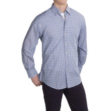 Scott Barber Andrew Cotton Dobby Check Shirt - Long Sleeve (For Men) in Navy/Blue/Purple Check - Closeouts