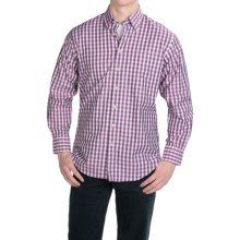 Scott Barber Andrew Cotton Dobby Check Shirt - Long Sleeve (For Men) in Pink/Black Check - Closeouts