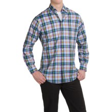 Scott Barber Andrew Cotton Dobby Plaid Shirt - Long Sleeve (For Men) in Cool Multi Plaid - Closeouts