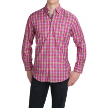 Scott Barber Andrew Cotton Dobby Plaid Shirt - Long Sleeve (For Men) in Fuschia/Green/Blue/Yellow Plaid - Closeouts