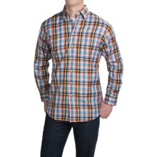 Scott Barber Andrew Cotton Dobby Plaid Shirt - Long Sleeve (For Men) in Warm Multi Plaid - Closeouts