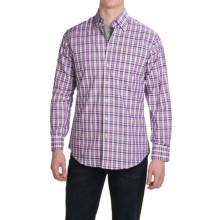 Scott Barber Andrew Cotton Dobby Shirt - Long Sleeve (For Men) in Fuschia/Yellow/Black/Blue Plaid - Closeouts