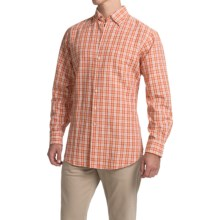 Scott Barber Andrew Linen Shirt - Hidden Button-Down Collar, Long Sleeve (For Men) in Red Plaid - Closeouts