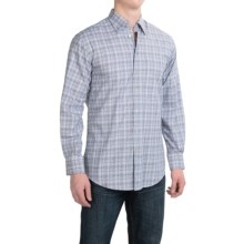 Scott Barber Andrew Plaid Shirt - Hidden Button-Down Collar, Long Sleeve (For Men) in Blue/Brown - Closeouts