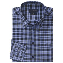 Scott Barber Andrew Plaid Sport Shirt - Long Sleeve (For Men) in Blue/Black/Sky - Closeouts