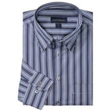 Scott Barber Andrew Poplin Stripe Shirt - Long Sleeve (For Men) in Navy/Black/Light Blue - Closeouts