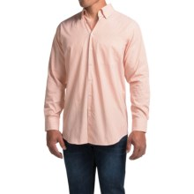 Scott Barber Andrew Shirt - Button Front, Long Sleeve (For Men) in Burnt Orange/White Stripe - Closeouts