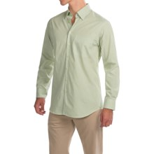 Scott Barber Andrew Shirt - Button Front, Long Sleeve (For Men) in Green/White Stripe - Closeouts