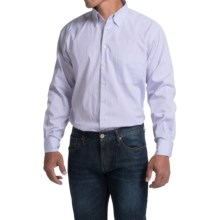 Scott Barber Andrew Shirt - Button Front, Long Sleeve (For Men) in Purple/White Stripe - Closeouts
