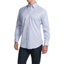 Scott Barber Andrew Shirt - Button Front, Long Sleeve (For Men) in White W/Blue Mini Check - Closeouts