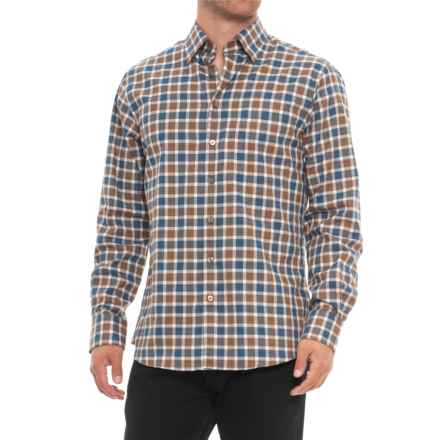 Scott Barber Andrew Shirt - Long Sleeve (For Men) in Blue/Gold/White Plaid - Closeouts