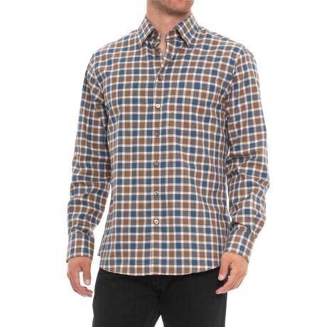Scott Barber Andrew Shirt - Long Sleeve (For Men) in Blue/Gold/White Plaid