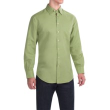 Scott Barber Andrew Solid Shirt - Button Front, Long Sleeve (For Men) in Green - Closeouts