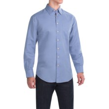 Scott Barber Andrew Solid Shirt - Button Front, Long Sleeve (For Men) in Light Blue - Closeouts
