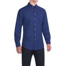 Scott Barber Andrew Solid Shirt - Button Front, Long Sleeve (For Men) in Navy - Closeouts