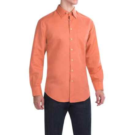 Scott Barber Andrew Solid Shirt - Button Front, Long Sleeve (For Men) in Orange - Closeouts