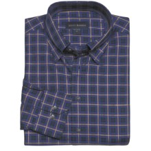 Scott Barber Andrew Sport Shirt - Fancy Check, Long Sleeve (For Men) in Blue/Black/Tan - Closeouts