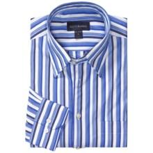 Scott Barber Andrew Stripe Shirt - Cotton Poplin, Long Sleeve (For Men) in Blue/Navy/White - Closeouts