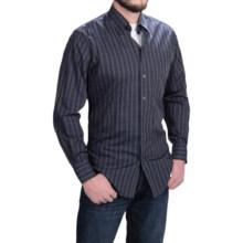 Scott Barber Andrew Tonal Plaid Shirt - Long Sleeve (For Men) in Grey/Navy/Black - Closeouts
