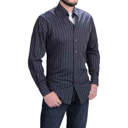 Scott Barber Andrew Tonal Plaid Shirt - Long Sleeve (For Men) in Grey/Navy/Black - Closeouts