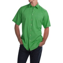 Scott Barber Charles Bedford Corded Shirt - Button Front, Short Sleeve (For Men) in Green - Closeouts