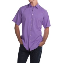 Scott Barber Charles Bedford Corded Shirt - Button Front, Short Sleeve (For Men) in Lavander - Closeouts