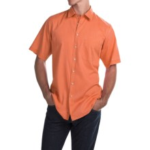 Scott Barber Charles Bedford Corded Shirt - Button Front, Short Sleeve (For Men) in Orange - Closeouts