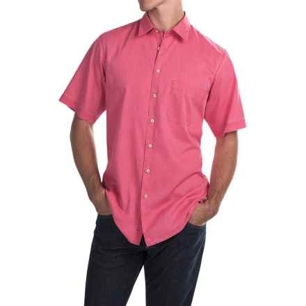 Scott Barber Charles Bedford Corded Shirt - Button Front, Short Sleeve (For Men) in Pink - Closeouts
