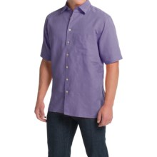 Scott Barber Charles Camp Shirt - Spread Collar, Short Sleeve (For Men) in Lavander Solid - Closeouts