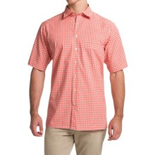 Scott Barber Charles Plain Weave Melange Shirt - Button Front, Short Sleeve (For Men) in Red Gingham - Closeouts