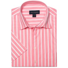 Scott Barber Charles Wide Stripe Shirt - Short Sleeve (For Men) in Pink/White - Closeouts